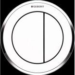 Przycisk uruchamiający podtynkowy do WC SIGMA 8 cm dwudzielny, pneumatyczny, ręczny Geberit TYP 10 116.056.KJ.1 biały chrom