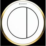 Przycisk uruchamiający podtynkowy do WC SIGMA 8 cm dwudzielny, pneumatyczny, ręczny Geberit TYP 10 116.056.KK.1 biały/ złoty
