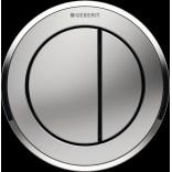 Przycisk uruchamiający podtynkowy do WC SIGMA 8 cm dwudzielny, pneumatyczny, ręczny Geberit TYP 10 116.056.KN.1 chrom matowy