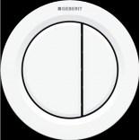 Przycisk uruchamiający podtynkowy do WC dwudzielny, pneumatyczny, ręczny Geberit TYP 01 116.042.11.1 biały