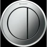 Przycisk uruchamiający podtynkowy do WC dwudzielny, pneumatyczny, ręczny Geberit TYP 10 116.055.KH.1 chrom matowy