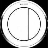 Przycisk uruchamiający podtynkowy do WC dwudzielny, pneumatyczny, ręczny Geberit TYP 10 116.055.KJ.1 biały chrom