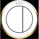 Przycisk uruchamiający podtynkowy do WC dwudzielny, pneumatyczny, ręczny Geberit TYP 10 116.055.KK.1 biały/ złoty