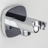 Przyłącze kątowe mosiężne z uchwytem na rączkę prysznicową Omnires HUDSON 8879