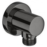 Przyłącze ścienne węża prysznicowego Roca BLACK ROUND A5B1450CN0