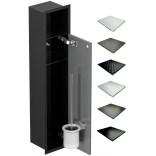 Schowek WC 80 cm czarny MCJ FLAT F.PW1D LBL WC 800 GMWH glamour/lienzo/drzwi+półka