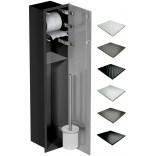 Schowek WC 80 cm czarny MCJ FLAT F.PW2D LBL WC 800 GMWH glamour/lienzo/2xdrzwi
