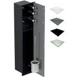 Schowek WC 80 cm czarny MCJ ZERO Z.PW2D LBL WC 800 WH glossy/mirror/2xdrzwi