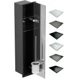 Schowek WC 80 cm czarny MCJ ZERO Z.PWAD LBL WC 800 GMWH glamour/lienzo/1xdrzwi