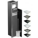 Schowek WC 80 cm stal MCJ BEND B.PW1D WC 800 SB GMWH glamour/lienzo/drzwi+półka