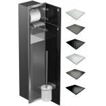 Schowek WC 80 cm stal MCJ BEND B.PW2D WC 800 SB GMWH glamour/lienzo/2xdrzwi