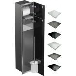 Schowek WC 80 cm stalowy MCJ FLAT F.PW2D WC 800 SB GMWH glamour/lienzo/2xdrzwi