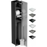 Schowek WC 95 cm czarny MCJ FLAT F.PW2D LBL WC 950 GMWH glamour/lienzo/2xdrzwi