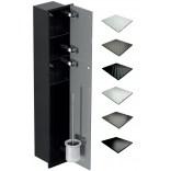 Schowek WC 95 cm czarny MCJ ZERO Z.PW2D LBL WC 950 GMWH glamour/lienzo/2xdrzwi