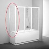 Ścianka nawannowa 80 cm APSV RAVAK 95040102Z1 biały+transparent