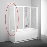 Ścianka nawannowa 80 cm APSV RAVAK 95040102ZG biały+grape