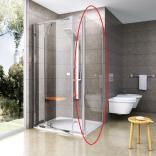 Ścianka prysznicowa 100x190 cm profil aluminium błyszczące szkło transparetne Ravak PIVOT PPS-100 90GA0C00Z1