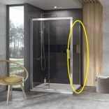 Ścianka prysznicowa 10PS-80 Ravak 10° 9UV40C00Z1 aluminium + transparent