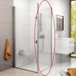 Ścianka stała 80x195 CPS-80 profil polerowane aluminium szkło transparent Ravak CHROME 9QV40C00Z1