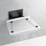 Siedzisko prysznicowe 36x36 Ravak OVO B B8F0000045 przezroczyste / czarne