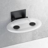 Siedzisko prysznicowe 41x35 Ravak OVO P B8F0000042 przezroczyste / czarne