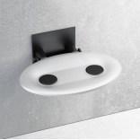 Siedzisko prysznicowe 41x35 Ravak OVO P B8F0000043 mleczne / czarne