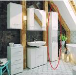 Słupek łazienkowy Deftrans BARI 186-C-03502 biała, DSM