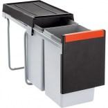 Sortownik do odpadów 30 l dwukomorowy, do szafki o minimalnej szerokości 45 cm Franke CUBE 134.0039.554