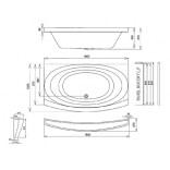 Stelaż wannowy Evolution Ravak GPX2240037