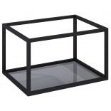 Stelaż podszafkowy 60 z półką szklaną Elita 167665 czarny