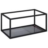 Stelaż podszafkowy 80 z półką szklaną Elita 167666 czarny