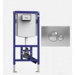 Stelaż podtynkowy 45 cm do WC + przycisk S 706 + mocowania Sanit INEO S9073381S001