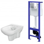 Stelaż podtynkowy HI-TEC + miska WC bez kołnierza Cersanit CITY S701-195