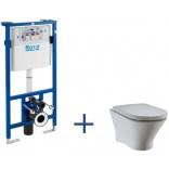Stelaż podtynkowy + miska WC Nexo Maxi Clean podwieszana do zabudowy lekkiej Roca A8900900MB