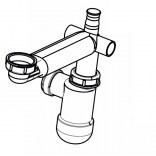 Syfon umywalkowy z oszczędnością miejsca Roca DEBBA AU0014100R