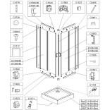 Syfon z kolankiem redukcyjnym do brodzika kabiny prysznicowej Sanplast TX 660-E1434