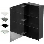 Szafka do zabudowy czarna 40x70 MCJ ZERO Z.PWD LBL 4070/15 WH glossy/mirror