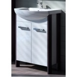 Szafka pod umywalkę 52x30,5x80 cm Deftrans PORTOFINO D56 1403 181-D-05604 wenge arusha-biały