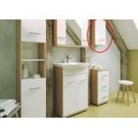 Szafka wisząca 35x70 cm Deftrans BARI 186-A-03506 dąb sonoma / biały, DSM