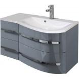 Szafka z umywalką 90 cm Oristo OPAL szary połysk OR30-SD4S-90-3-P prawa