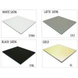 Szkło do tylnej ścianki 20 cm MCJ FLAT/BEND GW 200/STWH satin/gold