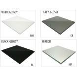 Szkło do tylnej ścianki 20 cm MCJ FLAT/BEND GW 200/WH glossy/mirror