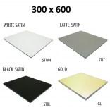 Szkło do tylnej ścianki 30x60 MCJ ZERO/FLAT/BEND GW 3060/STWH satin/gold