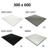 Szkło do tylnej ścianki 30x60 MCJ ZERO/FLAT/BEND GW 3060/WH glossy/mirror