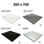 Szkło do tylnej ścianki 30x70 MCJ ZERO/FLAT/BEND GW 3070/WH glossy/mirror