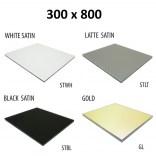 Szkło do tylnej ścianki 30x80 MCJ ZERO/FLAT/BEND GW 3080/STWH satin/gold