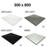 Szkło do tylnej ścianki 30x80 MCJ ZERO/FLAT/BEND GW 3080/WH glossy/mirror