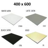 Szkło do tylnej ścianki 40x60 MCJ ZERO/FLAT/BEND GW 4060/STWH satin/gold