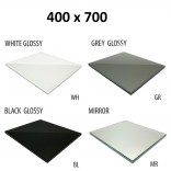 Szkło do tylnej ścianki 40x70 MCJ ZERO/FLAT/BEND GW 4070/WH glossy/mirror