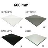Szkło do tylnej ścianki 60 cm MCJ FLAT/BEND GW 600/WH glossy/mirror